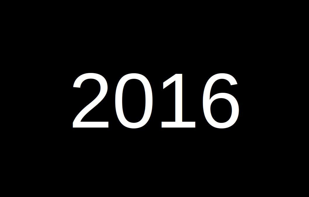 2016 på 8 minuter!