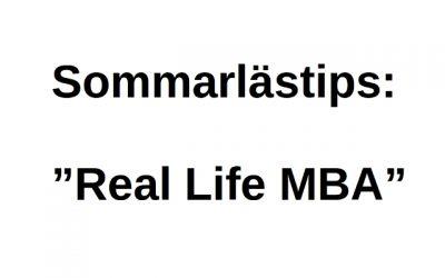 Sommarlästips – Real Life MBA